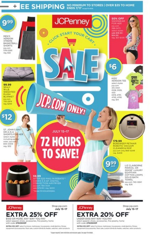 JCPenney July Black Friday page 1